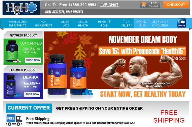 hgh.com home page