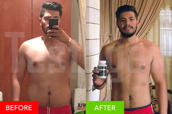 before and after testogen photo