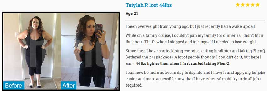 taiylah phenq testimonial before after photos