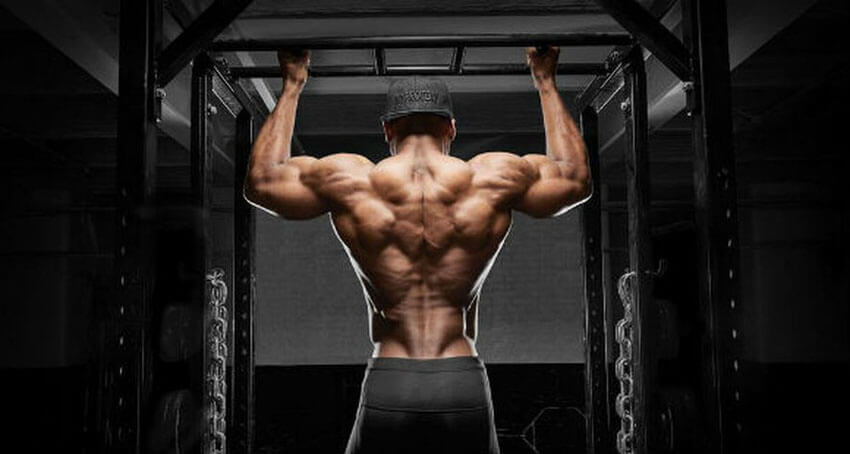 man doing pull up exercises