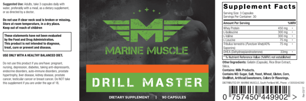 drill master ingredients