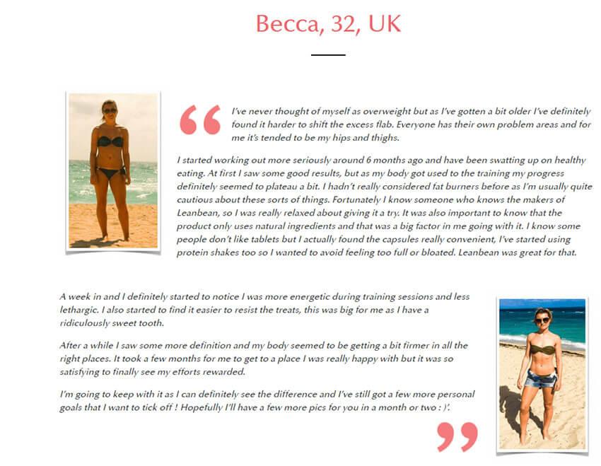 lean bean review Becca UK